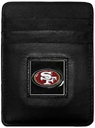 San Francisco 49ers Leather Money Clip/Cardholder Packaged in Gift Box