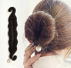 Chanderkash 1 Pcs Elegant Pearl Magic French Twist Bun Maker Clip, Hook Holder Magic Beauty Hair Hairstyle Foam Sponge Donut Maker