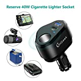 CHGeek Car Charger, 12V/24V 80W Cigarette Lighter Power Adapter DC Outlet Splitter with QC3.0 USB Port + Smart 2.4A USB Port for iPhone iPad, Android Samsung, GPS/DVR/DVD and More