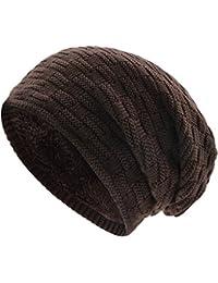 Berretti in Maglia - UPhitnis Berretto Invernale Uomo Donna con Lana -  Beanie Hat Elastico Morbido d557b2c8ec8f