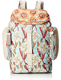 Oilily Whoopy Ornament Backpack Lvz, Bolsos mochila Mujer, Turquesa (Light Turquoise), 15x40x28 cm (B x H T)