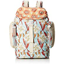 Oilily - Whoopy Ornament Backpack Lvz, Bolsos mochila Mujer, Turquesa (Light Turquoise)