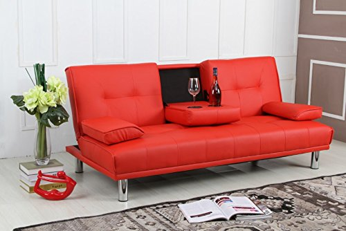 Manhattan Sleep Design Modern Faux Leather Fold Down 3