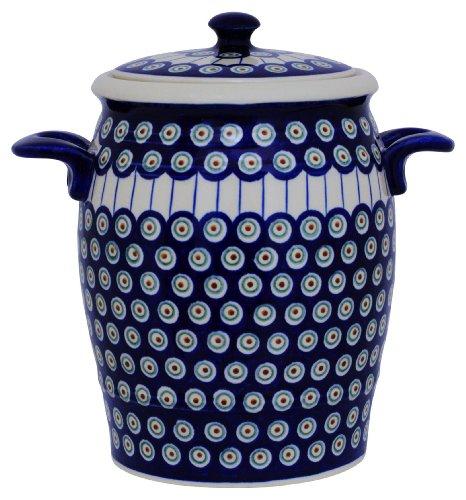 Original Bunzlauer Keramik Rumtopf 4.2 Liter / Mehrzwecktopf / Keramiktopf im Dekor 8