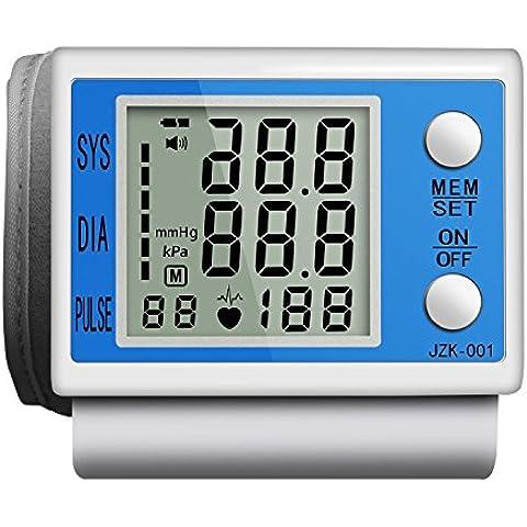 La Presión Sanguínea Toprime- 001 Monitor de Presión Arterial con Pantalla Grande Azul Silencio