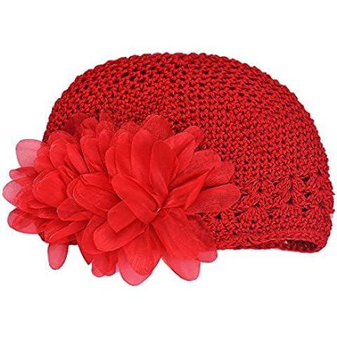 ZARU Los niños pequeños Bebé infantil Caps, venda venda de Headwear de la decoración de la flor del sombrero del pelo