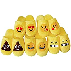 Houda - Zapatillas de Estar por casa de Material Sintético para Hombre, Color Amarillo, Talla 43 EU