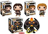 Funko POP! The Lord Of The Rings: Frodo Baggins + Samwise Gamgee + Balrog - Movie Vinyl Figure Set NEW
