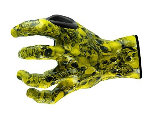 Grip Studios 126 giallo SKULLZ-L per chitarra, a forma di mano sinistra