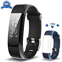 HolyHigh Fitness Tracker YG3 Plus HR Heart Rate Monitor Activity Tracker with Waterproof/Pedometer/Call Message Alert/Sleep Monitor/Control Camera Mode/Calorie/Sedentary Reminder with Replacement Band for Android and iOS
