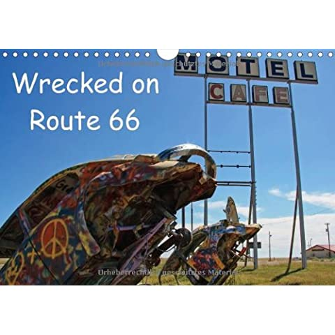 Wrecked on Route 66 (Wall Calendar 2014 DIN A4 Landscape): Historic cars along Americas Main Street (Month Calendar, 14 pages) - America Del Wall Calendar