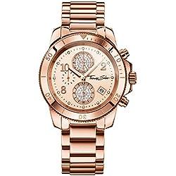 "Thomas Sabo Watches, Damenuhr ""GLAM CHRONO"", Edelstahl, WA0192-265-208"