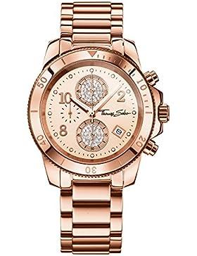 Thomas Sabo Damen-Armbanduhr Chronograph Quarz Edelstahl WA0192-265-208-40 mm
