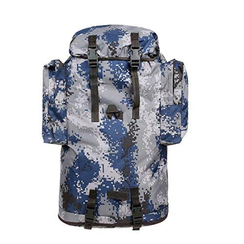 Yy.f 50L Taktischer Militärischer Rucksack Sport Outdoor-Angriff Tasche Rucksack Tasche Tarnung Rucksack Camping Jagd Wandern. Multicolor A