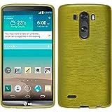 PhoneNatic LG G3 Hülle Silikon pastellgrün brushed Case G3 Tasche + 2 Schutzfolien