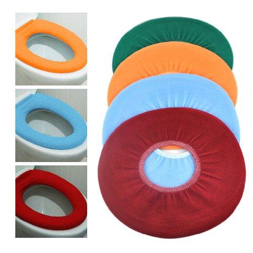 TOOGOO(R) Hot Soft-WC Reinigungswerkzeuge Waschbar Stoff Sitzbezug Deckel Warmer Pads Badezimmer