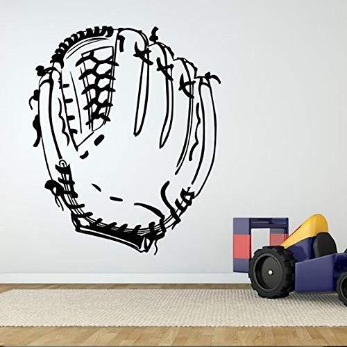 guijiumai Adesivi murali Poster da Gioco Guanto da Baseball per la Sala Sportiva Sfondo Adesivi murali Wallpaper Palestra Decorazioni per la casa Adesivi murali42X53CM