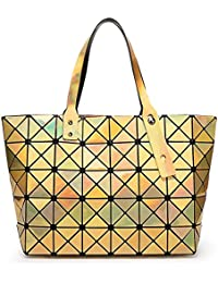 cb850930fa627 BUOU Shopper Taschen Frauen Handtaschen Plaid Geometrie Tasche Folding Damen  Tote