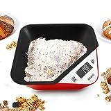 Duronic KS100 RD digitale Küchenwaage mit abnehmbarer Schüssel – 5 kg.