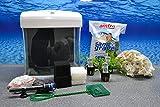Nano Aquarium Set XCube Komplettset weiß Cube | 26 Liter Becken inkl. Deko, Pflanzen, LED und Mondlicht | Anfänger