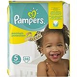 Pampers Premium Gr.5, 11-23kg, 35 Windeln, 1er Pack (1 x 35 Stück), 1 Packung = 1 Impfdosis