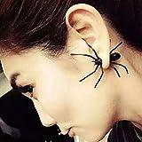 Spritech(TM) Fashion Cool Unisex Personality Black Spider Shape Eardrop Terror Earrings Whimsy Fake Ear Stud by Spritech