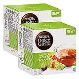 Nescafé Dolce Gusto Citrus Honey Black Tea, Schwarzer Tee mit Zitrus-, Honig-, und Ingwer-Aroma, Schwarztee, Teekapsel, 32 Kapseln