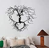 Zykang donne facce wall sticker rimovibile finestra decalcomania albero natura arte sexy ragazza decorazioni per la casa camera da letto salone di bellezza decor 65 * 57 cm