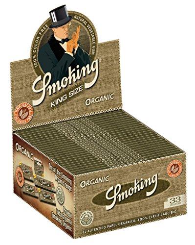 1 Box Smoking® ORGANIC King Size Papers 50 x 33 Blättchen aus 100% Bio-zertifizierten Hanffasern Original®