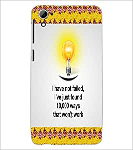PrintDhaba Quote D-5011 Back Case Cover for HTC DESIRE 826 (Multi-Coloured)