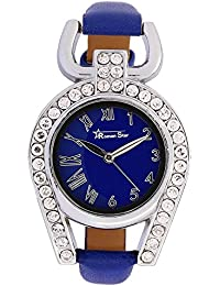 Roman Star Women's RS29_07 Silver Coloured With Blue Leather Strap Analog Quartz Watch