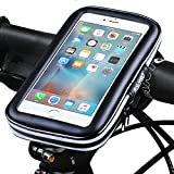 Bike Phone Mount, RISEPRO® Waterproof Universal Case Bicycle & Motorcycle Mount Cradle Holder Dust Rain Snow Resistant iPhone 6 6S, 7, 7 plus