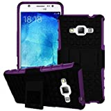 KAMAL STAR® Heavy Duty Tough Shockproof Builder Case With Stand Hard Case Cover For Various Samsung Galaxy Phones + Stylus (Galaxy S6, Purple)