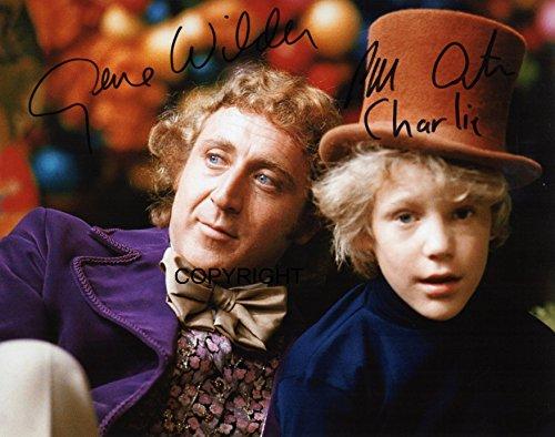 Wilder Peter OSTRUM Willy Wonka unterzeichnet Foto Autogramm signiertsigniertes (Willy Wonka Chocolate Bar)