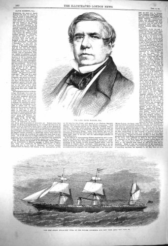 Dampf-Schiff 1864 Davids Roberts Kuba Cunard Liverpool