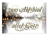 DigitalOase Abschiedskarte Glückwunschkarte Grußkarte zum Abschied Alles Gute Ruhestand Format DIN A4 A3 Klappkarte PanoramaUmschlag