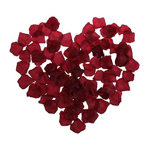 Fletion 500 Stück Künstliche Seidenstoff Rosen Blumenblätter Rosenblüten,Rosenblätter für Romantische Hochzeit,Schlafzimmer,Valentinstag Dekor DIY-Zubehör