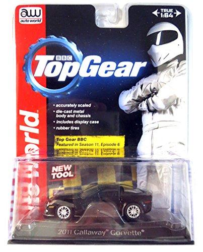 Preisvergleich Produktbild Chevrolet Corvette Callaway schwarz 2011 auto world 1:64