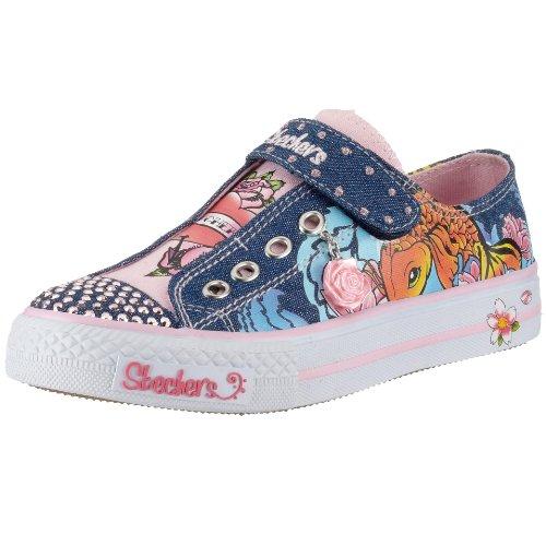 Skechers TWINKLE TOES - Shuffles - Wisdom 83208L, Kinder Sneaker Blau (Dnpk)