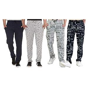 SHAUN Men's Regular Fit Trackpants (Pack of 4)