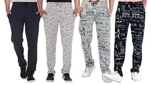 SHAUN Men's Cotton Track_Pant (631Men4_UVXN44_Multi-Colored_X-Large) Pack of 4