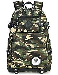 604063a1301f7 Bcony Polyester Oxford Stoff Tarnung Camouflage Daypacks Schultaschen  Rucksäcke Schulrucksäcke Mehrfach Taschen Draussen Sport…
