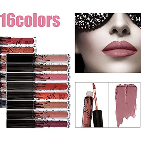 16 Farben wasserdicht langlebig Matte Liquid Lipstick Schönheit Lippe Gloss,