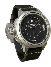 Welder K24-3608 - Reloj para hombres, correa de cuero color negro