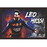 Mad Masters Lionel Messi Barcelona 1 Piece Wooden Framed Painting |Wall Art | Home Décor | Painting Art | Unique Design | Attractive Frames