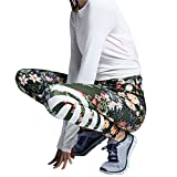 Damen Hosen,Binggong Womens Floral Gedruckt Yoga Workout Gym Leggings Fitness Sport Gestreiften Hosen Bequem Jogginghose Strumpfhosen Yoga Pants Elegant