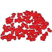 100x Cuore Fiore Petalo Decorazione Tabella Del Partito Coriandoli Di Fidanzamento Di Nozze - Rosso