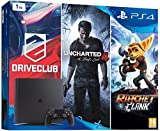 Ps4 Console 1tb Best Deals - Console PlayStation 4 1 To : Uncharted 4 + DriveClub + Ratchet & Clank