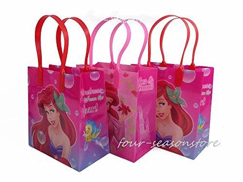 Disney 12pcs Princess Ariel Little Mermaid Goodie Bags Birthday Party Favor Bags Gift Bags by Disney (Princess Party-goody Bags)
