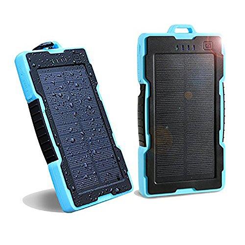 NEXGADGET-Cargador-Porttil-Solar-13000mAh-Batera-Externa-con-2-USB-Puertos-Entrada-de-iPhone-Android-Incluido-Lightning-Puerto-y-Salida-5V2A-Max-para-Smartphone-iPhone-Samsung-iPad-Tableta-etc-Azul